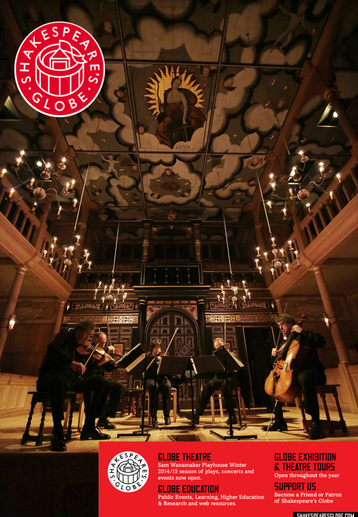 Chilingirian Quartet feature as artists' in residence at the Globe, London