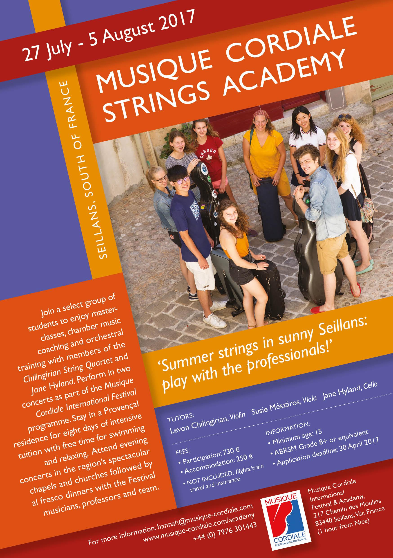 Music Summer school – Musique Cordiale Academy 27 July – 5 August 2017